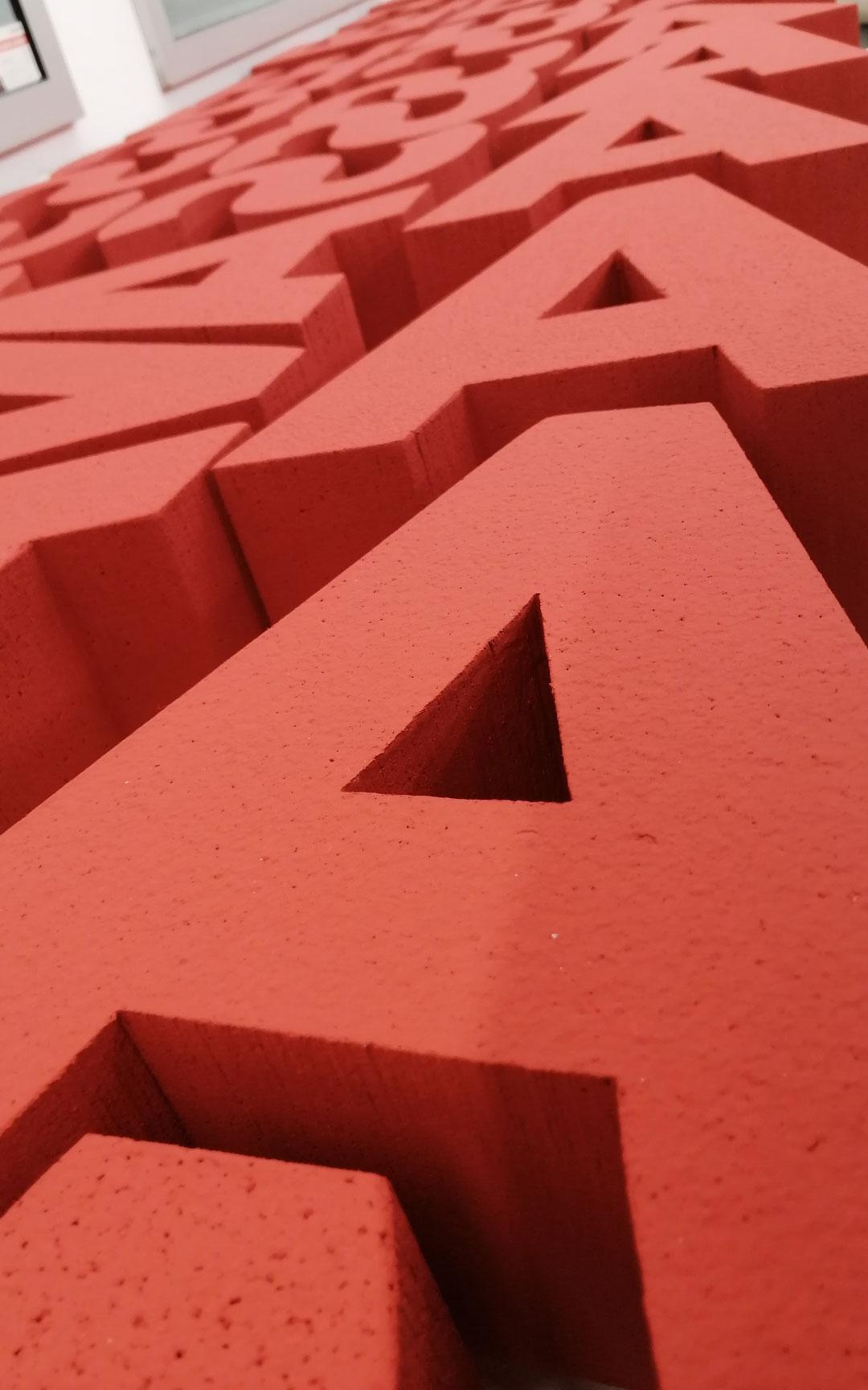 Buchstaben aus Styropor