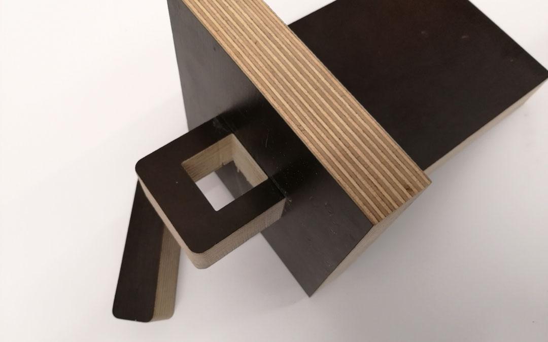 30 mm Siebdruckplatte Steckverbindung
