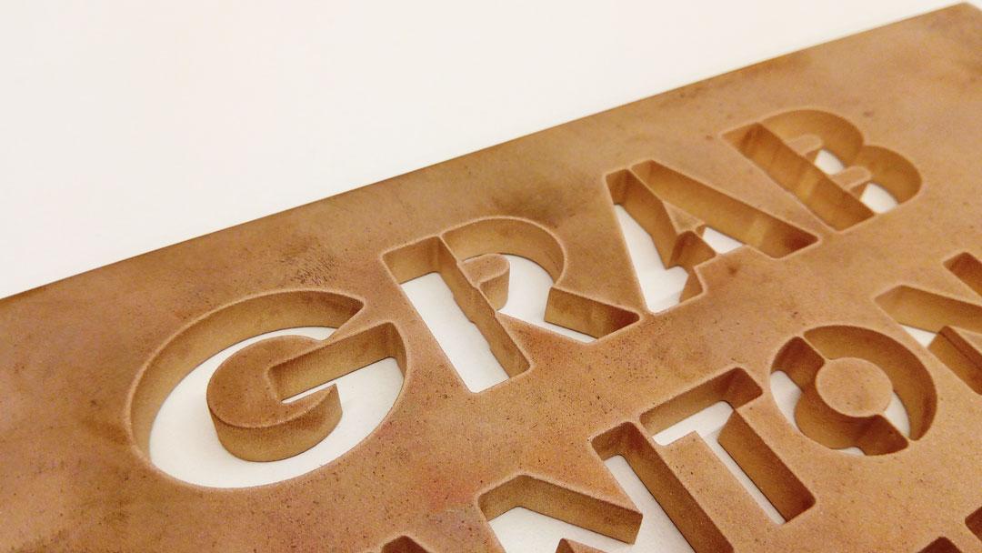 Messing Buchstaben