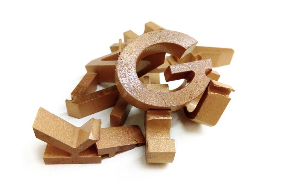 Messing-Buchstaben